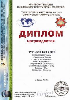 Украина - I место в чемпионате Европы