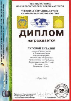 Украина - I место в Чемпионате мира