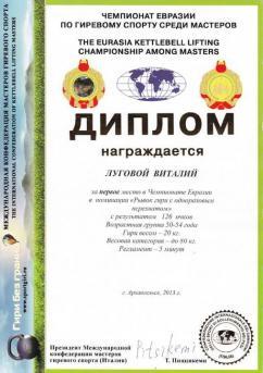 Россия - I место в чемпионате Евразии